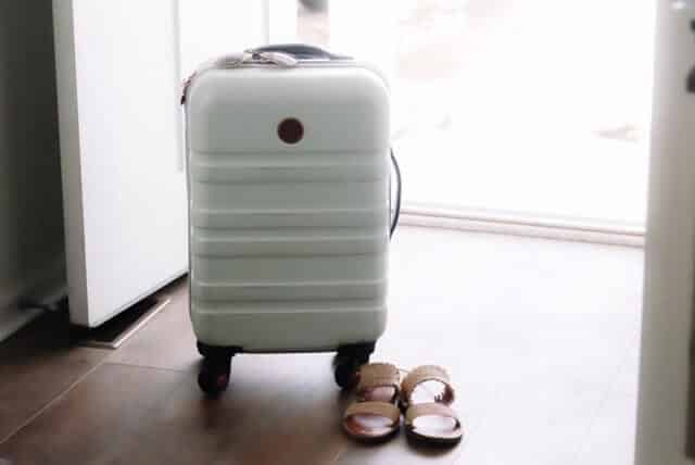 a white suitcase