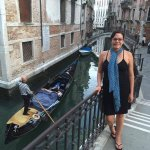women standing in Venice, Italy