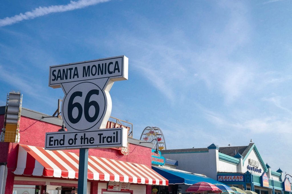 picture of the Santa Monica trail sign