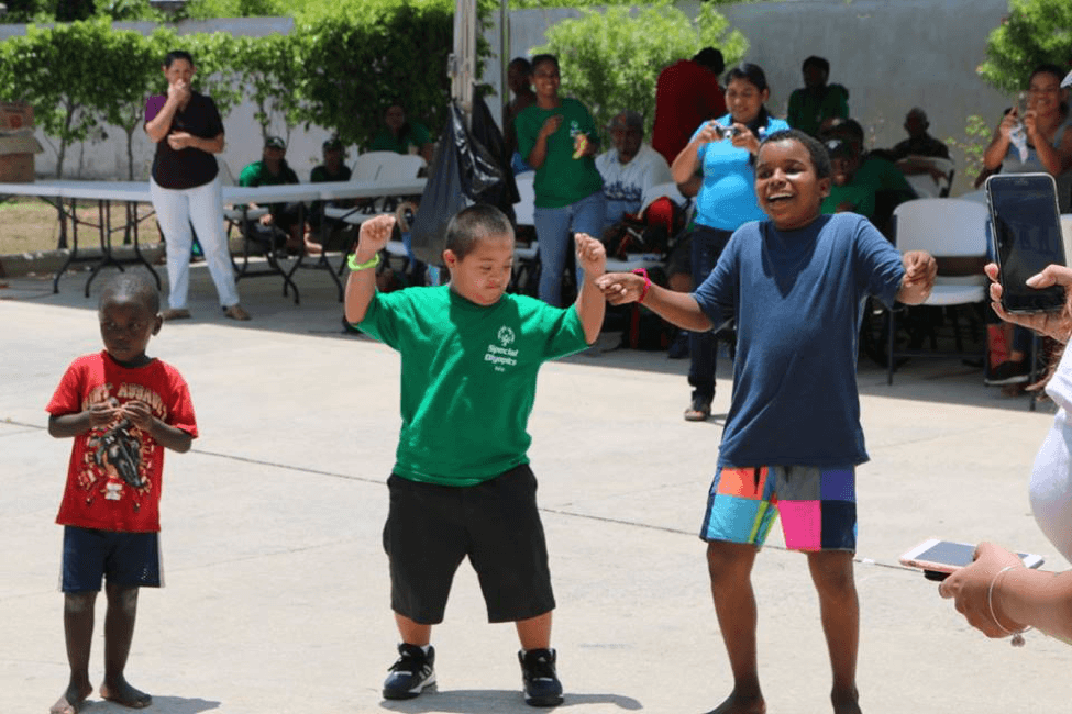 Photo of children playing at The Therapy Abroad Program in Belize