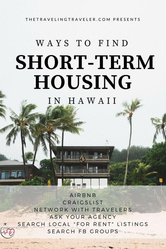 picture that says ways to find short-term housing in hawaii