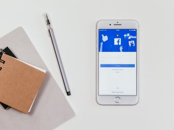 Facebook graphic on a mobile device