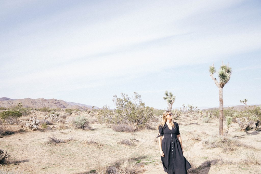 a women standing in Joshua Tree national park