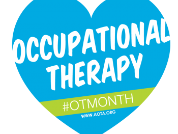 a graphic that says occupational therapy month