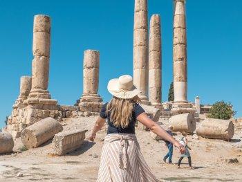 a women standing in amman jordan