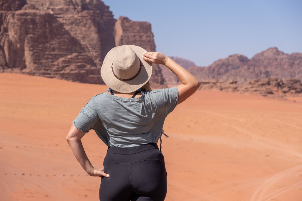 a women in Wadi Rum, Jordan