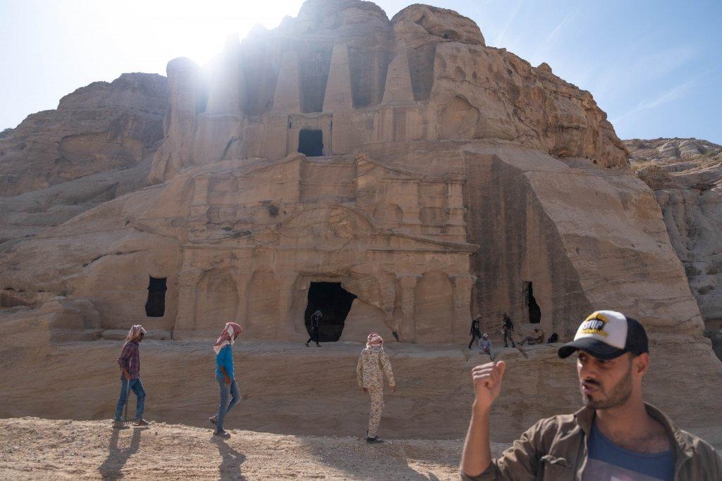 tour guide and structures at Petra, Jordan