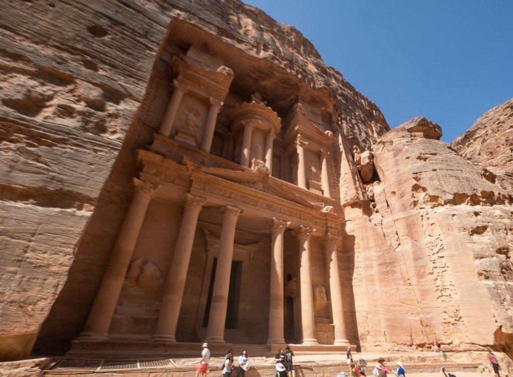 a building in Petra, Jordan