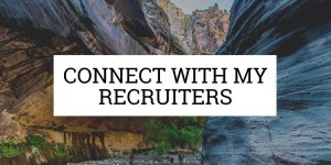 "a botton that says ""connect with my recruiters"""