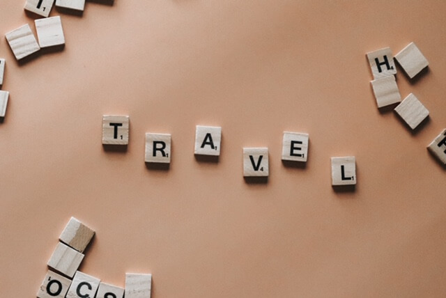 "a picture of the word ""travel"""