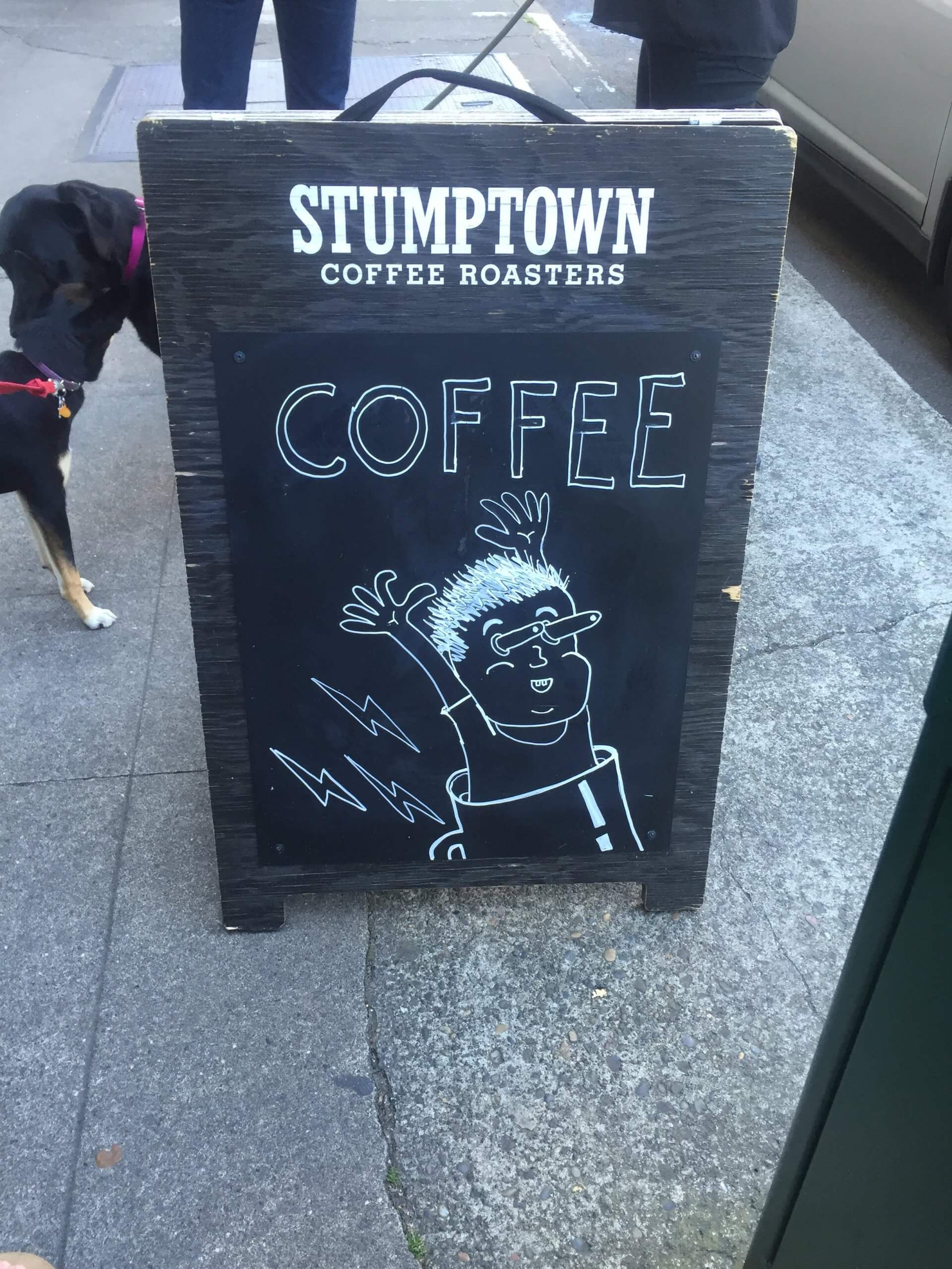stumptown coffee sign in portland, oregon