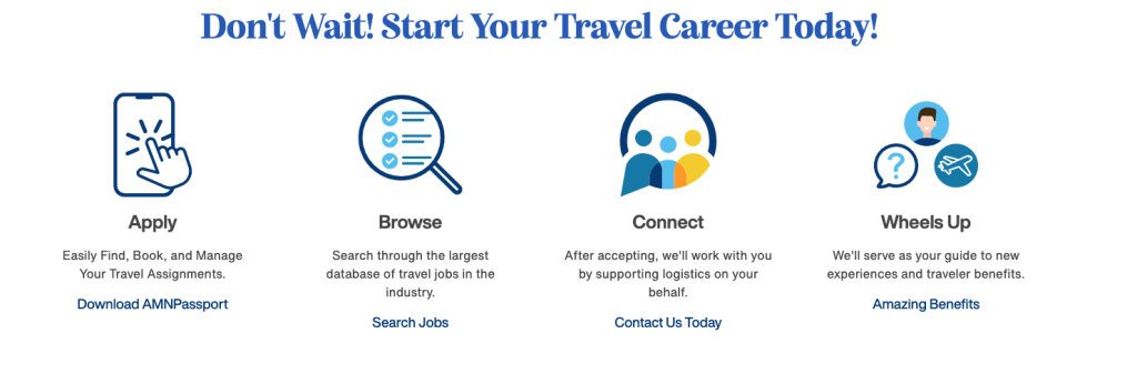 photo saying start your travel therapy career with medtravelers